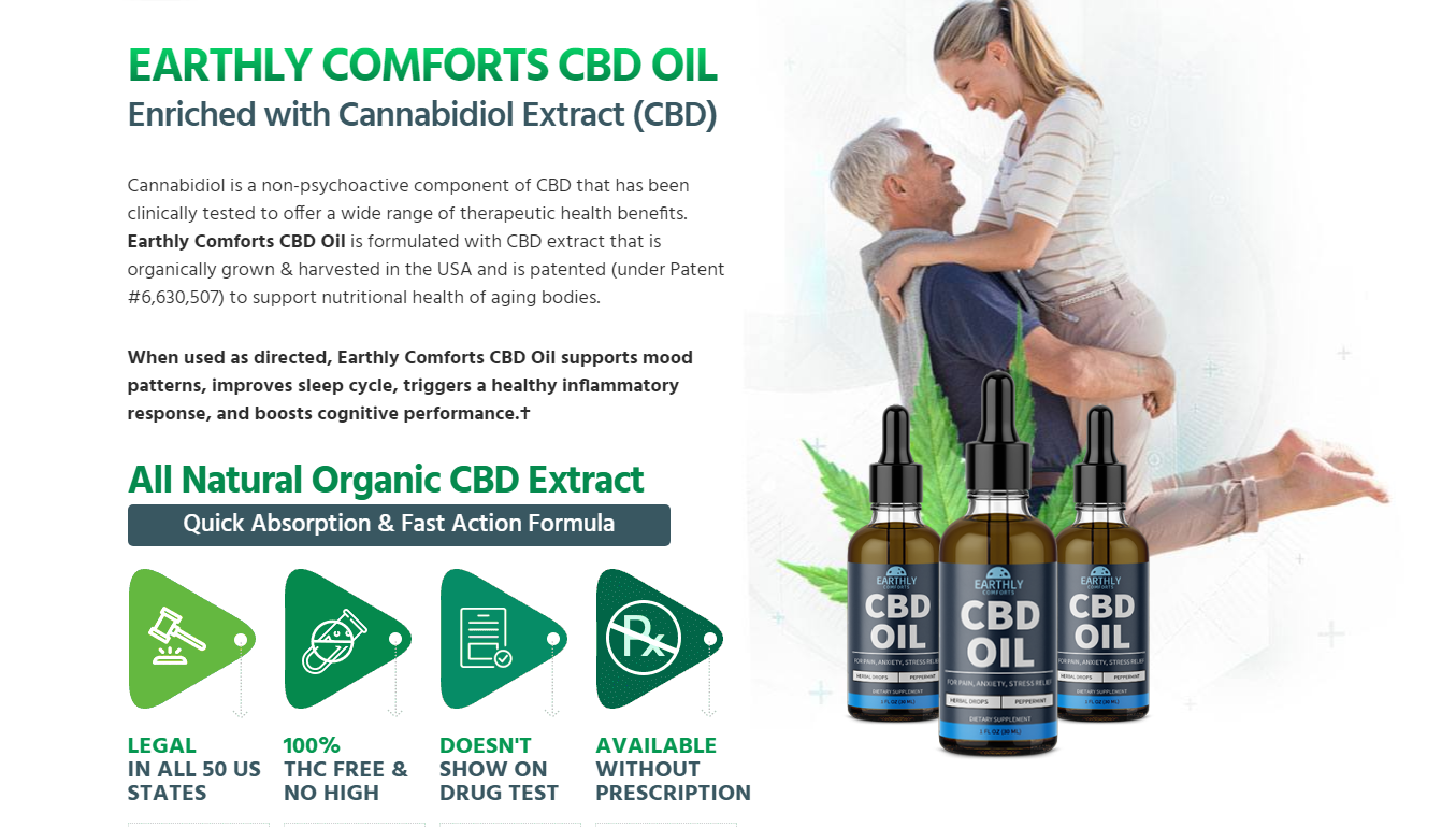 Earthly Comforts CBD Oil [Is Earthly Comforts CBD Effective?] Reviews?