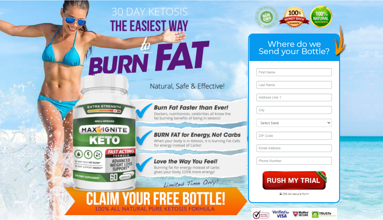 Max Ignite Keto Pills - Start Processing in Your Body Resulting in Energy!