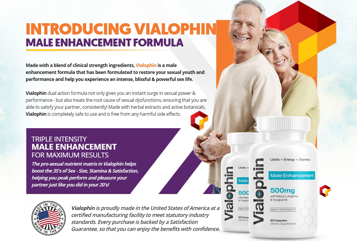 Vialophin Male Enhancement (Vialophin Reviews) *Must Read Before Use*