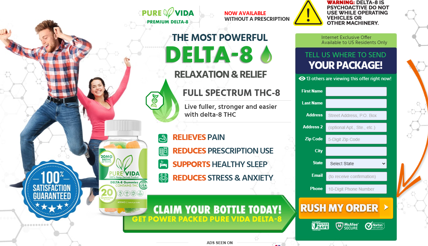 Pure Vida Delta-8 Gummies (UPGRADE 2021) Does Its Really Works?