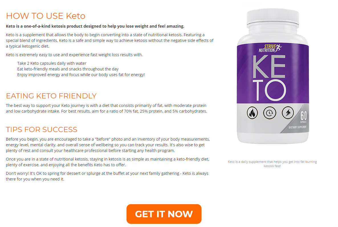 Strive Nutrition Keto® [Does Its Really Works?] Fast Fat Burning Formula!