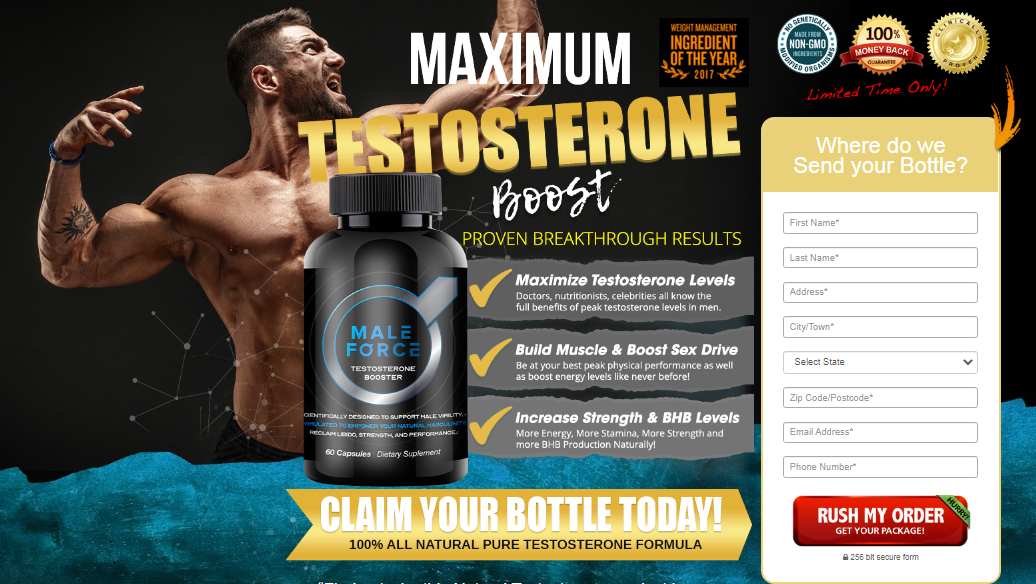 Male Force Testosterone Booster - American #1 Me Supplement?